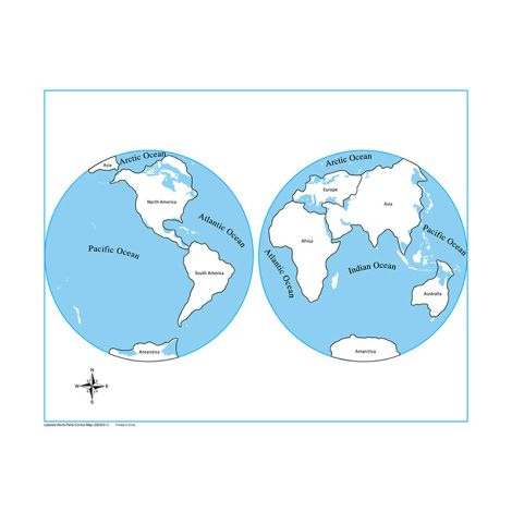Labeled World Parts Control Map - PP Plastic