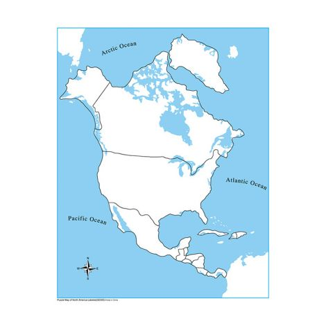 Unlabeled North America Control Map