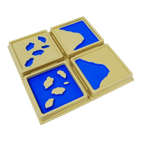 2nd Set Of Land And Water Form Trays - Blue