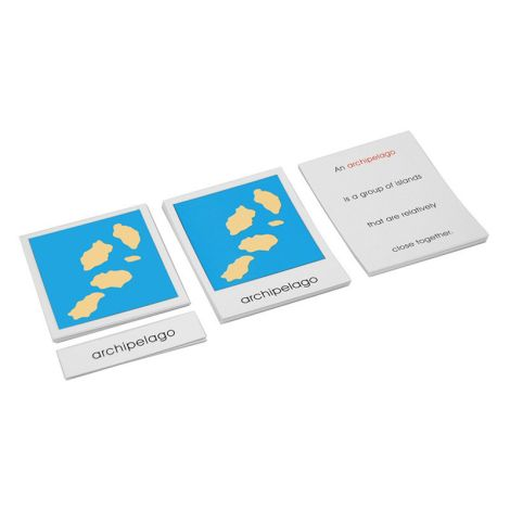 Land And Water Forms Cards Set