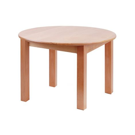 "Round Solid Beech Wood Table - 24"" Diameter"