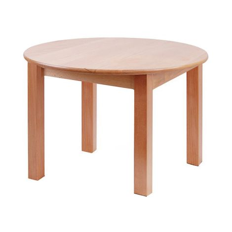 "Round Solid Beech Wood Table - 30"" Diameter"