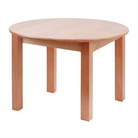 "Round Solid Beech Wood Table - 36"" Diameter"