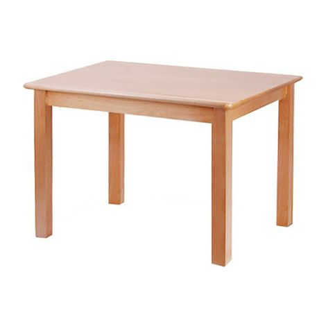 "Rectangle Solid Beech Wood Table - 36"" x 24"""