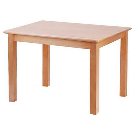 "Rectangle Solid Beech Wood Table - 48"" x 30"""