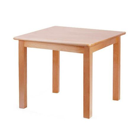 "Square Solid Beech Wood Table - 24"" x 24"""