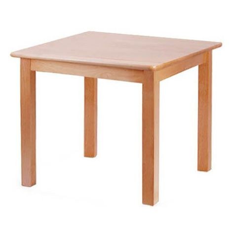 "Square Solid Beech Wood Table - 30"" x 30"""