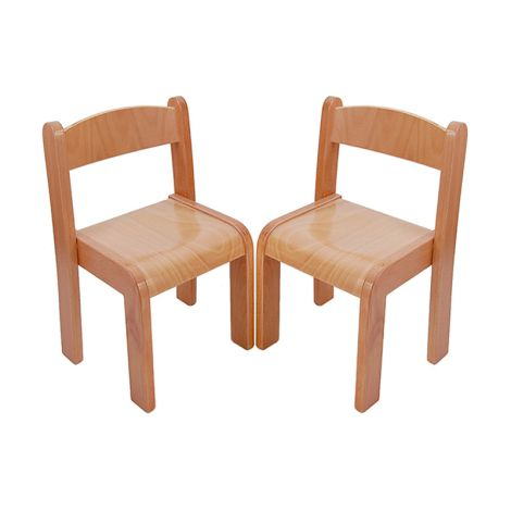 Beechwood Straight Back Chairs (Set Of 2) - 8""