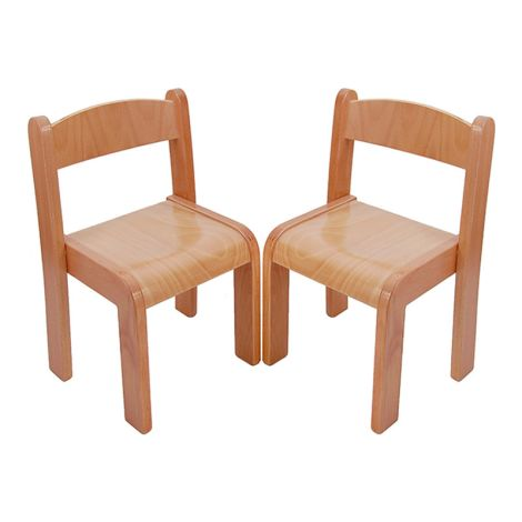 Beechwood Straight Back Chairs (Set Of 2) - 10""