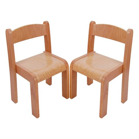 Beechwood Straight Back Chairs (Set Of 2) - 12""