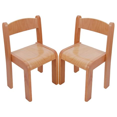 Beechwood Straight Back Chairs (Set Of 2) - 14""
