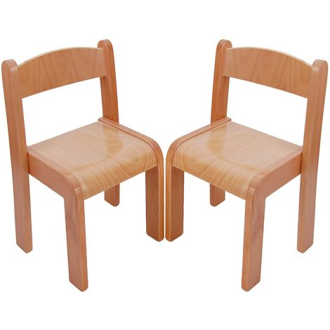 Beechwood Straight Back Chairs (Set Of 2) - 15""