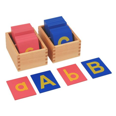 Lower And Capital Case Sandpaper Letters With Boxes