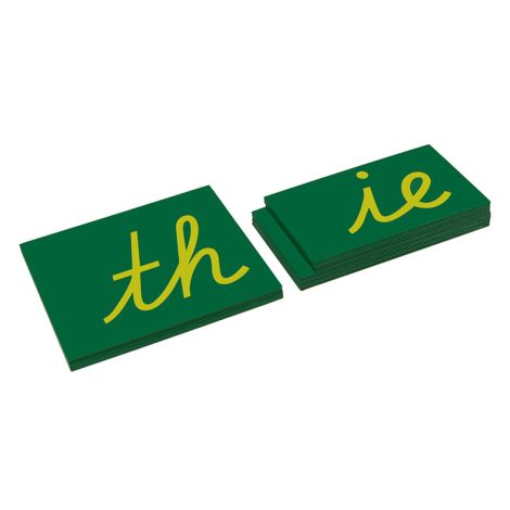Lower Case Double Sandpaper Letters - Cursive