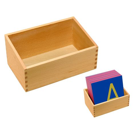Box For Single Sandpaper Letters