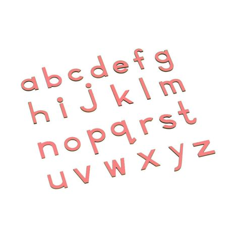 Lowercase Small Movable Alphabet - Pink
