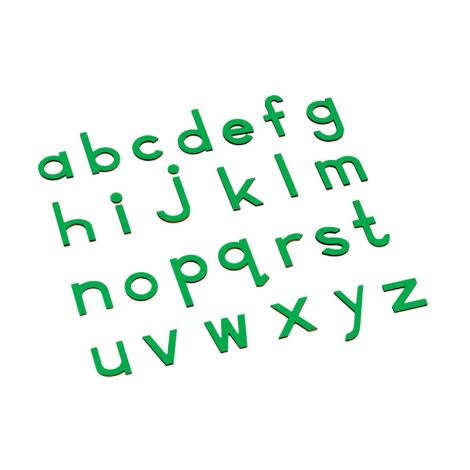 Lowercase Small Movable Alphabet - Green