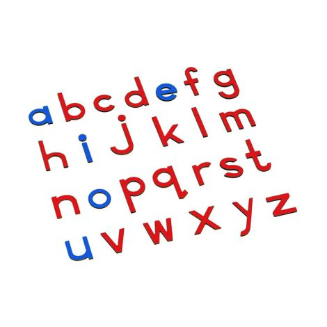 Lowercase Small Movable Alphabet - Blue & Red