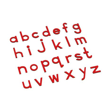Lowercase Small Movable Alphabet - Red