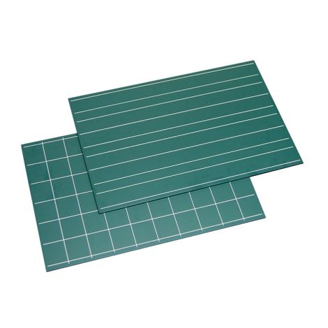 Greenboards With Double Lines And Squares (2pcs)