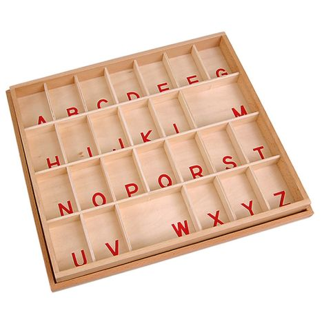 Box For Capital Case Small Movable Alphabet