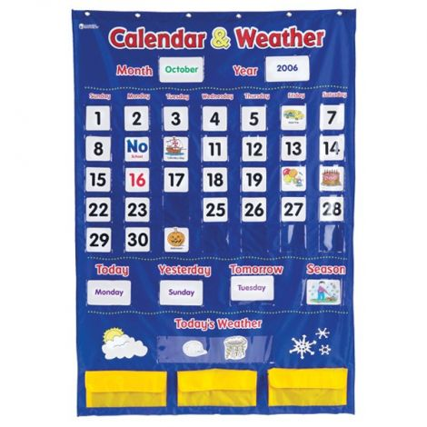Calendar & Weather Pocket Chart