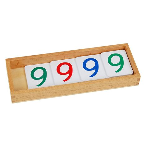 Large Plastic Number Cards With Box (1-9000)
