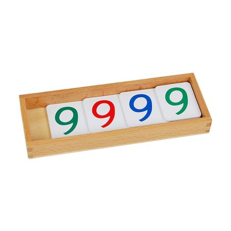 Small Plastic Number Cards With Box (1-9000)