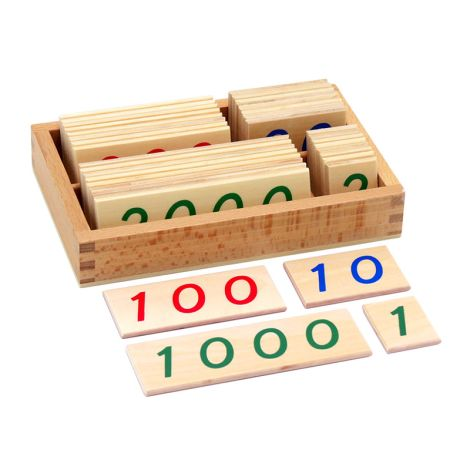 Small Wooden Number Cards With Box (1-9000)