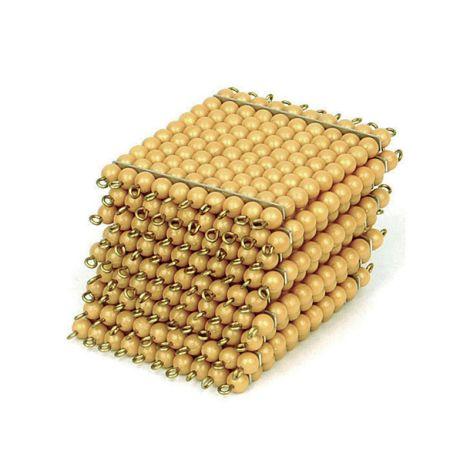 9 Golden Bead Hundred Squares