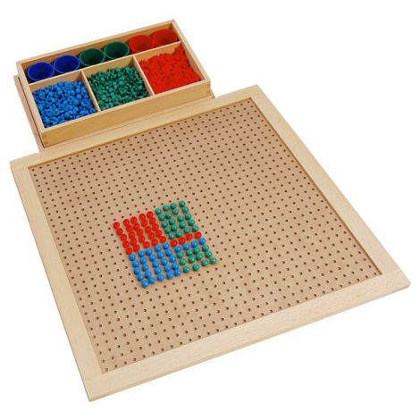 Wooden Peg Board With Plastic Pegs