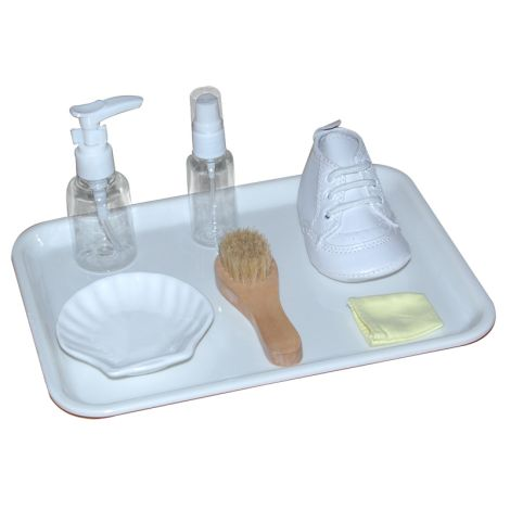 Shoe Cleaning Activity With Plastic Tray