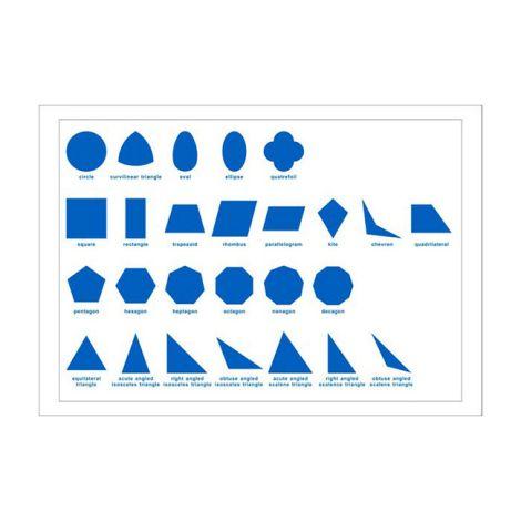 Geometric Cabinet Control Chart - PP Plastic