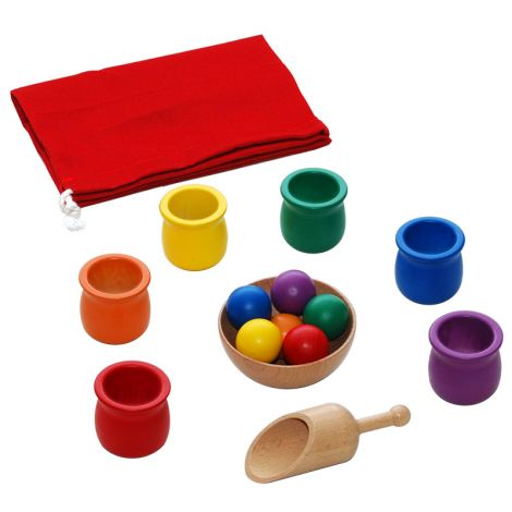 Colored Balls And Cups
