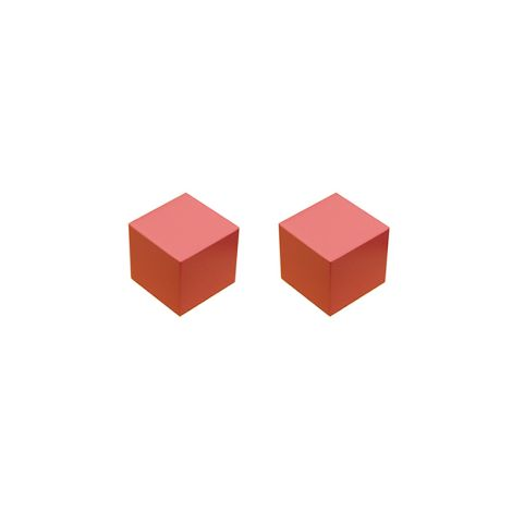 Replacement - Set of 2 Second Smallest Pink Tower Cubes